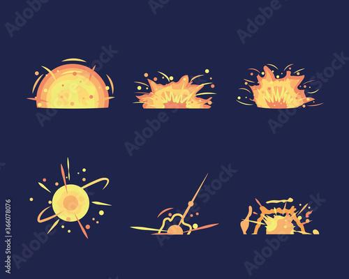 Valokuvatapetti Key frames of bomb explosion