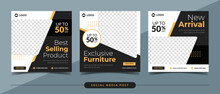 Exclusive Furniture Sale Banner For Social Media Post Template