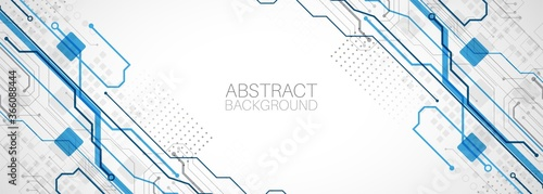 Abstract technology concept Fototapet