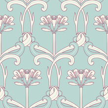 Floral Seamless Pattern In Art...