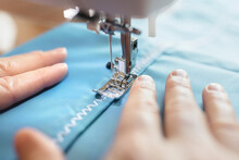 Sewing Machine And Material Ba...
