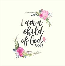 Christian Bible Verse Tee I Am...