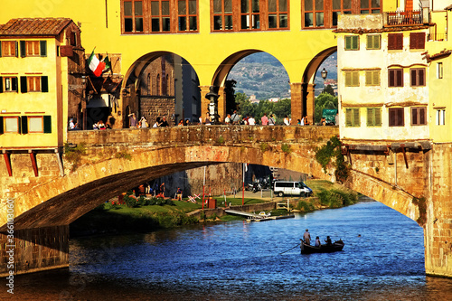 Ponte Vecchio over Arno river in Florence, Italy Wallpaper Mural
