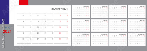 Fotografía Calendar for 2021 year