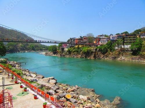 Photo bridge over the river