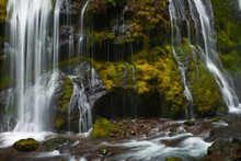 View Of The Part Of Panther Creek Falls In The Washington State.