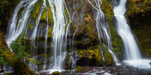 Panoramic View Of The Part Of Panther Creek Falls In The Washington State.