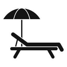 Deckchair Beach Icon. Simple I...