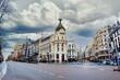 The Famous Edificio Metropolis Building in Madrid City located at Gran Via street, Madrid, Spain
