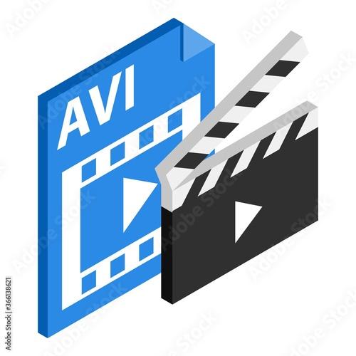 Photo Avi file icon
