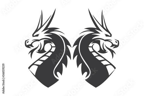 dragon tattoo design Canvas