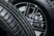 canvas print picture - Close up tyre profile car tires