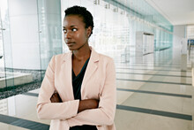 African American Businesswoman Standing In Office
