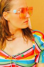 Portrait Of Woman Wearing Colo...