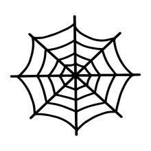 Web Isolated On A White Backgr...