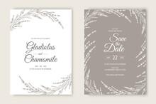 Vector Wedding Invitations Set...