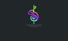 Unique And Elegant Stylish Lizard Chameleon Logo Illustration Of The Geometric Design Of Flat Art.