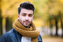 Handsome Young Man With Scarf ...