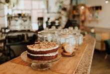 Homemade Fancy Cake On Counter...