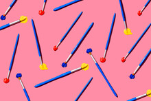 Pattern Of Paintbrushes With B...