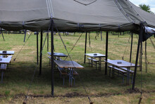 Military Camouflaged Tent For Resting And Eating