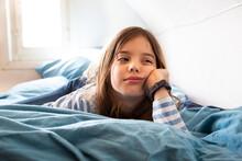 Portrait Of Bored Little Girl ...