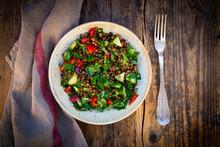 Bowl Of Vegan Lentil Salad Wit...