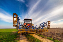 Tractor On Agricultural Field ...