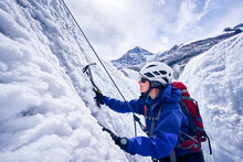 Female Mountaineer, Glacier Gr...