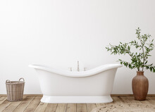 White Cozy Bathroom Interior B...