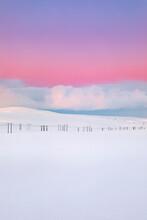 Power Pylons In Winter Landsca...