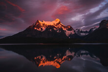 Chile, Mountains Reflecting On...