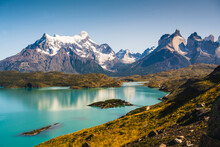 Chile, Scenic View Of Turquois...