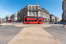 UK, London, Red Double Decker ...