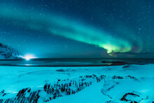 Northern Lights Above The Beac...