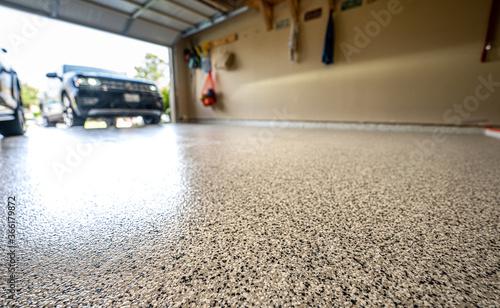 Fototapeta epoxy garage floor
