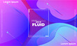 Abstract fluid color pattern of neon color liquid gradient background with modern geometric dynamic motion style Suitable For Wallpaper, Banner, Background, Card, Book Illustration, landing page
