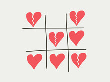 Tictactoe Game Of Love Heart A...