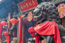 Chinese Lion Statue In Chinese...