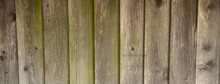 Old Wooden Fence With Mild Gre...