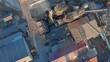 Aerial shot of a timber mill, Rotorua, New Zealand
