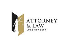 Woman / Lady Law Logo Concept.