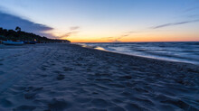 Sonnenuntergang Am Heringsdorfer Strand Auf Der Insel Usedom
