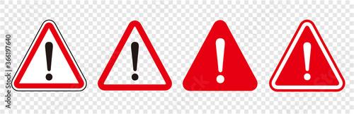 Fotografía warning sign icon vector triangle