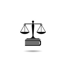 Law Book Icon With Shadow