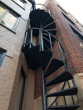 Spiral Fire Escape On Outside ...