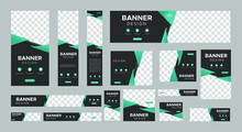 Set Of Creative Web Banners Of...