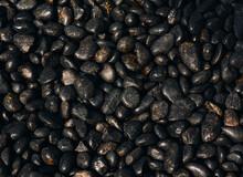 Stone Pebbles Black Texture Nature Background