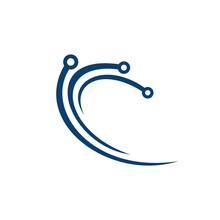 Abstract Technology Vector Logo Design.