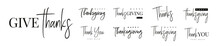 Thanksgiving Typography Set. G...
